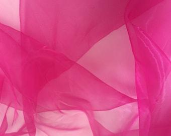 Hot pink organza fabric