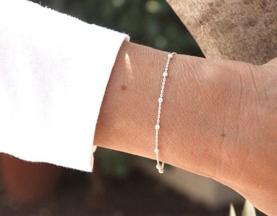 Bracelet silver Sterling 925 Silver satellite chain