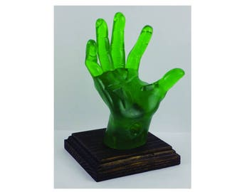 GREEN, POP-Hands, Colorful device holder for phones, tablets, business cards, etc. Customize the color of the base.