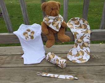 Baby Gender Neutral Gift Set - Monkeys