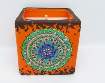 Mex Design Scented Soy Candle - Orange