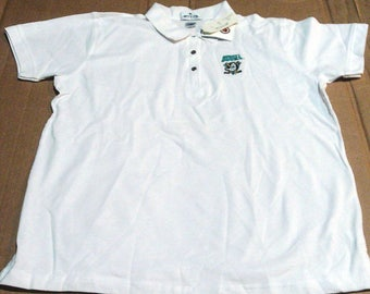 Anaheim Mighty Ducks Polo Shirt - Womens size Large