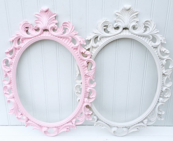 baroque style picture frame shabby chic frame oval picture rh etsy com shabby chic photo frames ebay shabby chic photo frames 8x10