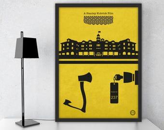 The Shining Inspired Print / Stanley Kubrick / Alternative Movie Poster / Gift /