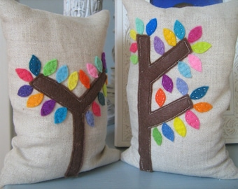 EMPTY- Mod Trees Bean Bag Bookends