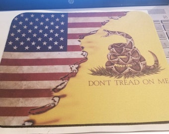 Don't tread on me mouse pad.