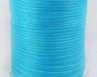 10 m width 6 mm turquoise blue organza Ribbon