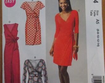 Sewing pattern mccall dress 6884 size 6 to 14