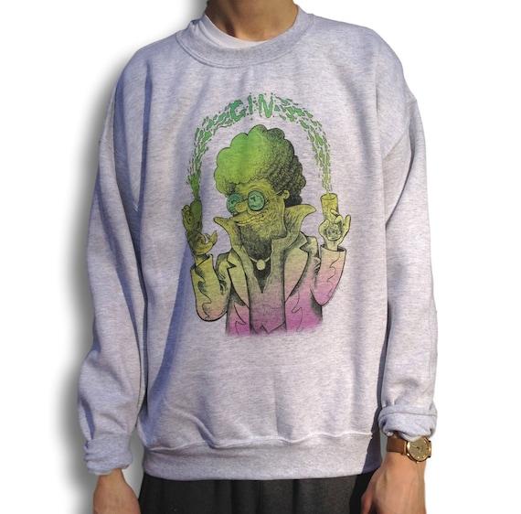 Alien Sweater, Grunge Jumper, 90s pullover, Aesthetic Clothing, Alternative Clothing, Vaporwave Sweatshirt, Tumblr, Soft Grunge, Pastel
