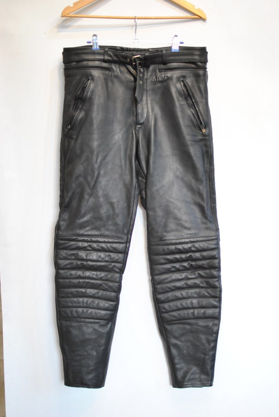 MOTORCYCLE MEN'S 086 pants Vintage LEATHER 516qcw