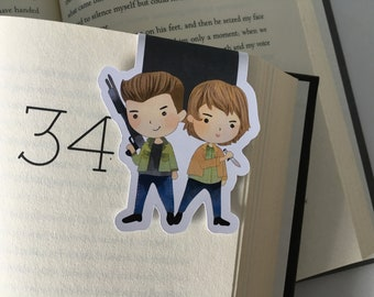 Dean & Sam Supernatural Magnetic Bookmark //