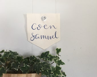 Personalized Baby Mini-Banner / Canvas Banner