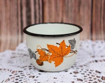 White Enamel Cup Children mug Coffee mug Campfire mug Rustic mug Gift for traveler Milk mug Mug for tourism Rustic cup Сamping tableware