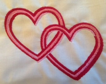 Valentine Entwined Hearts Machine Embroidery design