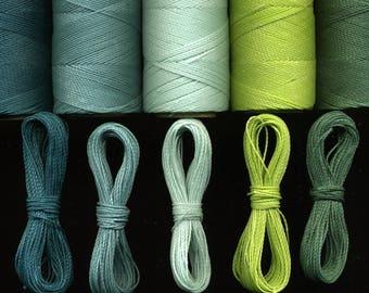 5 x 10 m thread Linhasita macrame, green