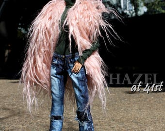 Full Fashion for Kingdom Doll - Jeans, turtleneck, fur vest, belt - from HazelStreetDezigns