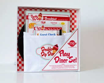 Pretend Play Restaurant menu/Play Kitchen/Kids/personalized/vintage/gift for kids/educational toy/handmade/unique gift idea/Christmas gift