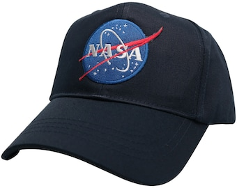 Youth NASA Insignia Logo Embroidered Patch Baseball Cap - 4 Colors