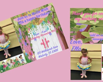 Wellie Wisher Birthday Invitation and Thank You Card Bundle (2)