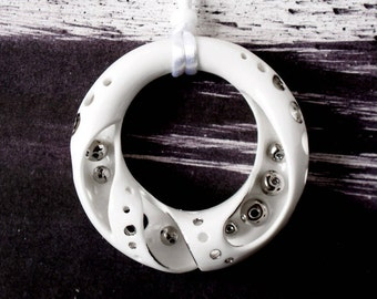 Wheel of Fortune, porcelain necklace