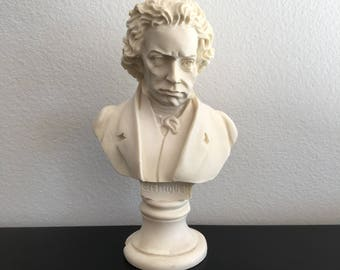 Vintage, Beethoven Bust, German Composer, Beethoven Figure, Ludvig Von Beethoven, Figurine, Piano Bust, Music Composer, Beethoven Sculpture
