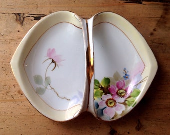 Handpainted Nippon serving dish made in Japan, Japanese china