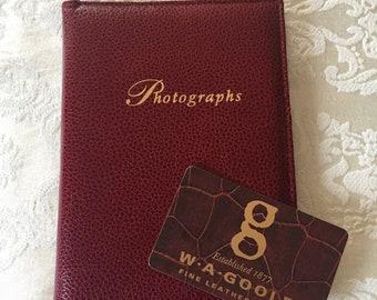 WA Goold Leather Photograph Album, Made in England, Vintage Photo Album