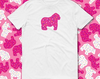 Animal Cookies, Circus Birthday, Clothing-Gift, Unbasic Tee, Trending Now, Pink Frosted Animal Cookie, Gorilla Cookie, Iced Animal Cookies
