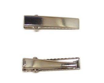 100 Flat Top Narrow Alligator Clip with Teeth - Small