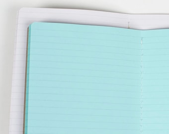 LINED Traveler's Notebook Insert, Midori style travelers notebook, Premium notebooks - 5 sizes and 19 solid colors