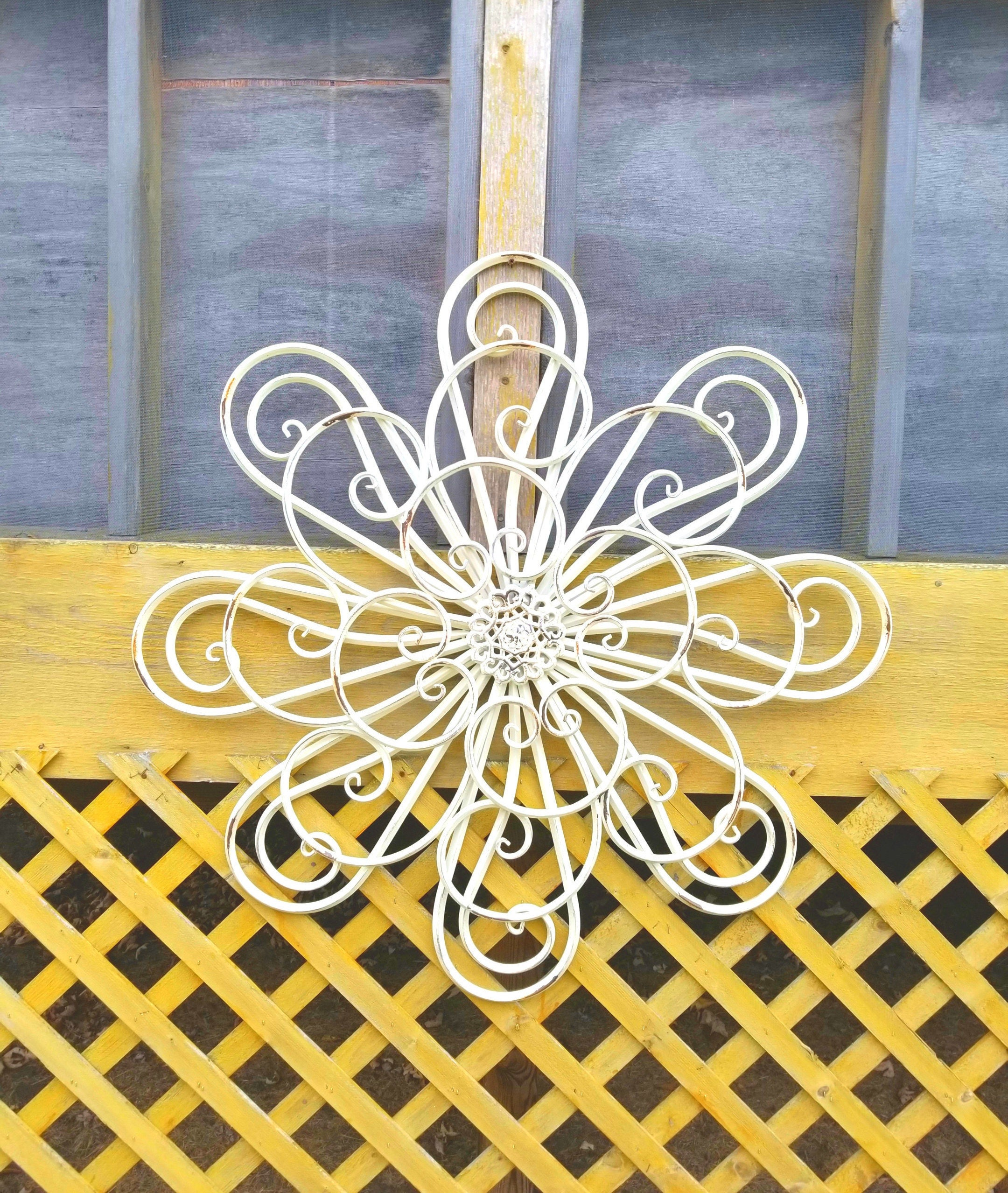 Large Metal Wall Art/ Bedroom Wall Decor / Shabby Chic Wall