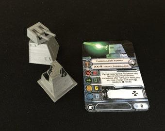 XX-9 Turbolaser Turret for X-Wing Miniatures (w/optional platform)