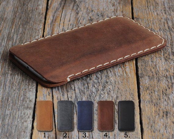 OnePlus 6 5T 5 3T 3 X 2 One Case Pouch. Handmade Cover Genuine Real Cow Leather Shell Sleeve Rough Vintage Style Custom Sizes