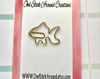 Metal FISH Planner Clips/Page Clip/ Bookmark