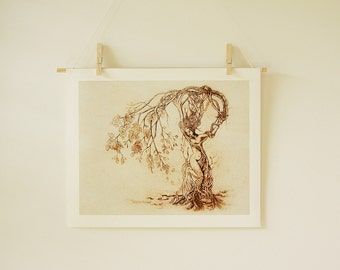 Dryad Tree Woman Nature Goddess | Hedgewitch 11 X 14 inch Fantasy Art Archive Quality Giclée Print, Unframed | Made to Order