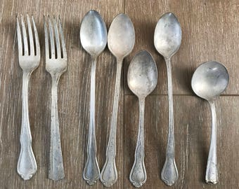 Vintage Silverware Mix Lot of 7
