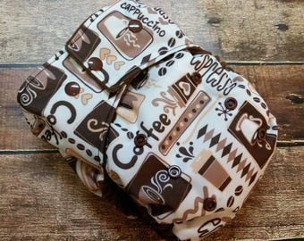 One Size Pocket Cloth Diaper Coffee 15-40 lbs PUL