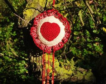 Handmade Heart Crochet Ornament