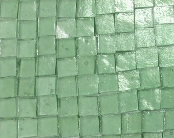 MING GREEN TRANSPARENT Stipple Stained Glass Mosaic A35/O4