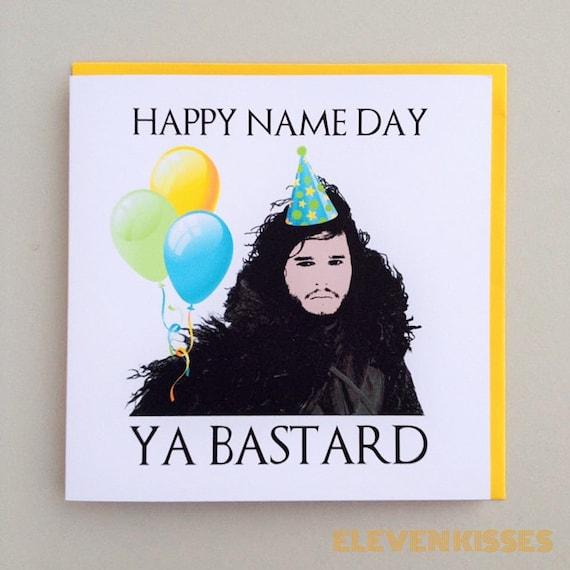 Game Of Thrones Jon Snow Birthday Card