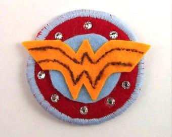 Wonder Woman Logo Badge Pin Button Patch