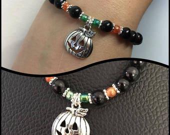 halloween pumpkin bracelet