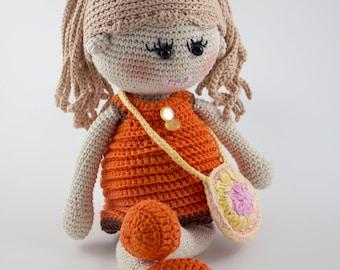 Rosie Cheeks Doll - Crochet Toy