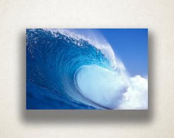 Caribbean Wave Canvas Art, Ocean Wave Wall Art, Ocean Canvas Print, Close Up Wall Art, Photograph, Canvas Print, Home Art, Wall Art Canvas
