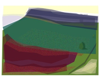 Art card (blank inside)   Title:  Stanage  High Neb from Plantation  Size A5 (21x15cm)