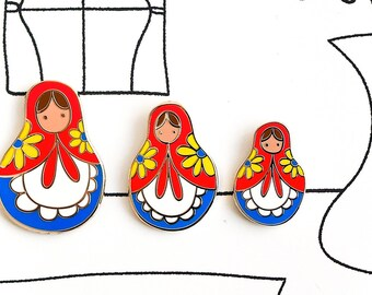 Matryoshka Pins