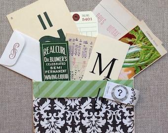 Handmade Journal Pocket/Scrapbook Pocket/Vintage Ephemera Collection