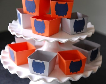 Owl Candy Cups, Owl Party Supplies, Nut Cups, Owl Favors, Owl Baby Shower, 12 Pcs,