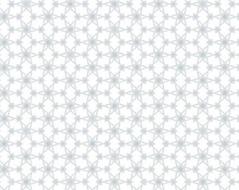 Magical Moments Metallic Silver Stars on White 4593-108 from Blank Quilting by the yard