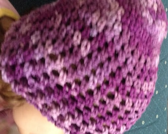 Purple Crochet Hat - Toddler